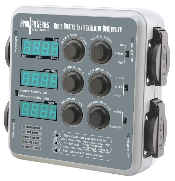 Titan Controls Spartan Series Basic Digital Environmental Controller (Temperature, CO2 Timer and Humidity)