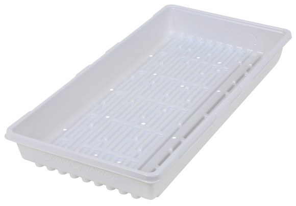 Super Sprouter Triple Thick Tray White 10 x 20 w/ Holes