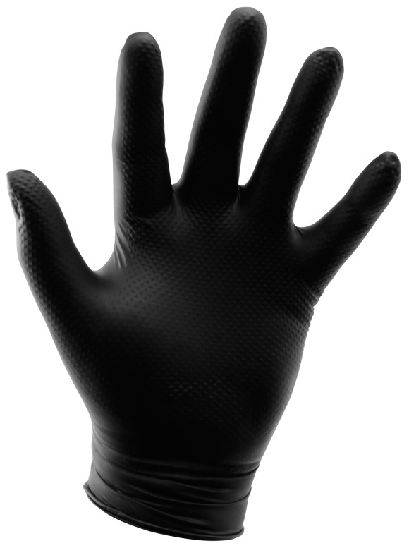 Grower's Edge Black Powder Free Diamond Textured Nitrile Gloves 6 mil