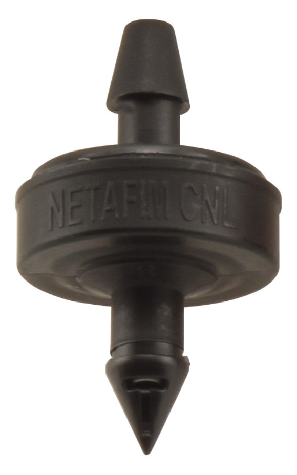 Hydro Flow / Netafim Self Piercing Pressure Compensating Emitters w/ 1.74 Internal Check Valve 1.0 GPH Barb Inlet 160 in Black