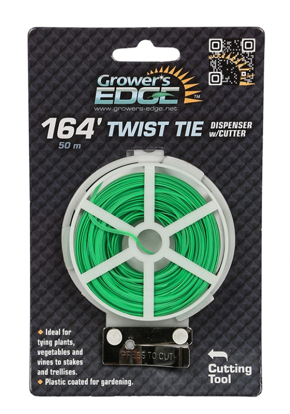 Grower's Edge Green Twist Tie Dispenser w/ Cutter