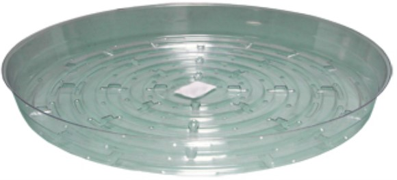"Clear Saucer, 14"", pack of 10"