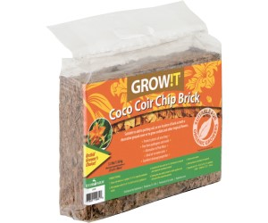 GROW!T Coco Coir Chip Brick, pack of 3