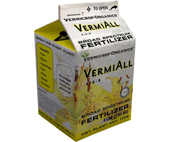Vermicrop Vermiall 6-6-6, 500 lbs Tote